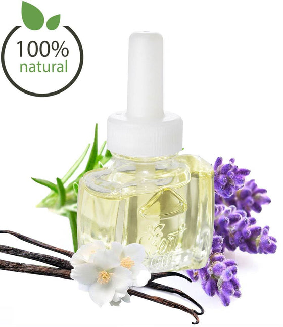 NEW VERSION -100% Natural Lavender Vanilla Plug in Refill Air Freshener - Fits Air Wick® and more
