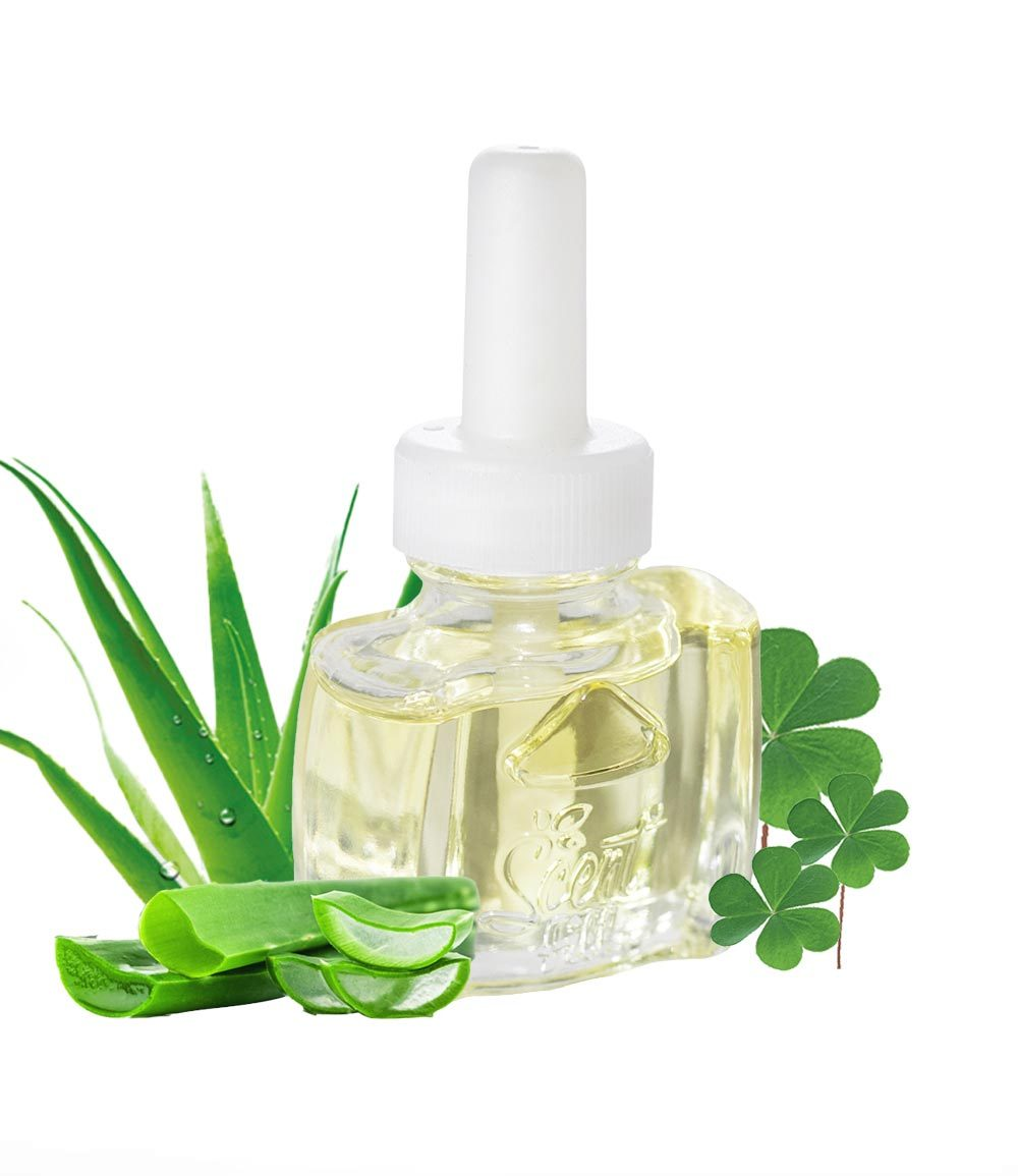 Green Clover & Aloe Plug in Refill Air Freshener - Fits Air Wick®, and more