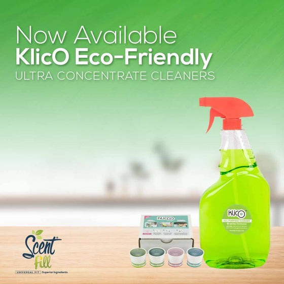 NEW - KlicO Eco-Friendly Ultra Concentrate Cleaners 1 each; Multi-Purpose, Window, Kitchen, and Bathroom with 1 Trigger Spray Bottle