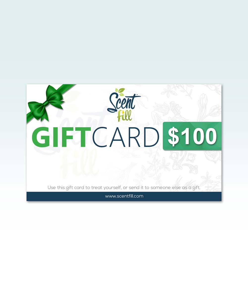Scent Fill® Digital Gifts Cards in $10, $25, $50, and $100 Denominations