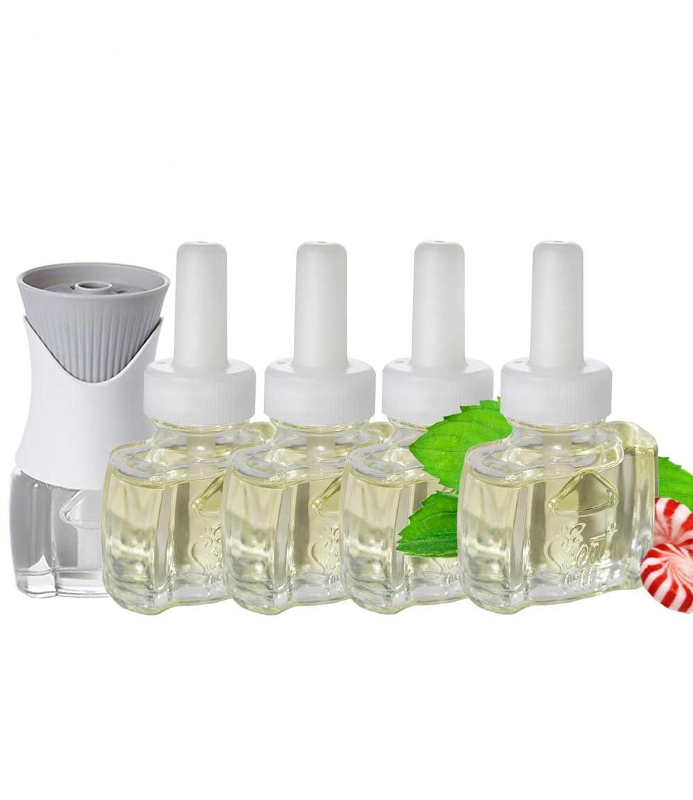Air Wick Scented Oil warmer with peppermint refills