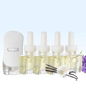 Glade Plugin Scented Oil Warmer Kit with 4 Lavender Vanilla Refills