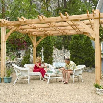 Breeze 10' x 12' Cedar Wood Pergola - Outdoor Living Today - Sojag Gazebos