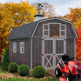 Best Barns 10 x 16 Woodville Wood Storage Shed Pre-cut Kit - Sojag Gazebos