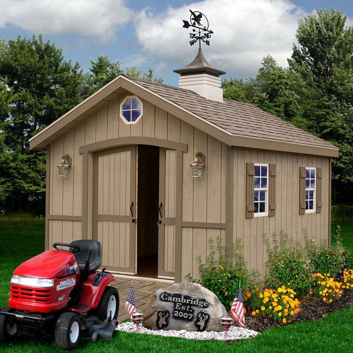Best Barns Cambridge 10 x 12 Wood Storage Shed Kit - Sojag Gazebos