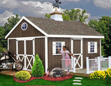 Best Barns Easton 12 x 16 Wood Storage Shed Kit - Sojag Gazebos