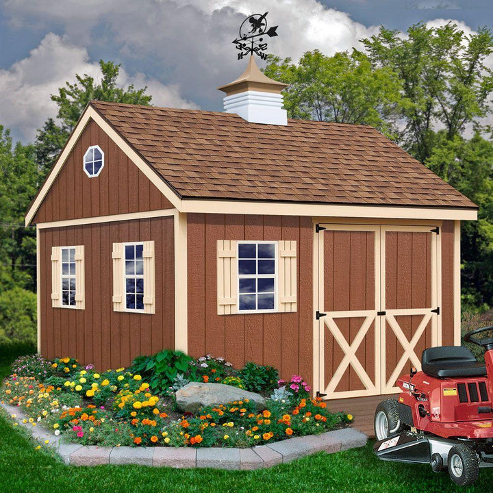 Best Barns Mansfield 12 x 12 Wood Storage Shed Kit - Sojag Gazebos