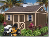 One Car Wood Garage Kit 12 x 24 Sierra - Sojag Gazebos