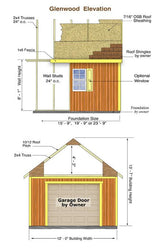Best Barns Glenwood 12x20 Wood Storage Garage Kit - Sojag Gazebos