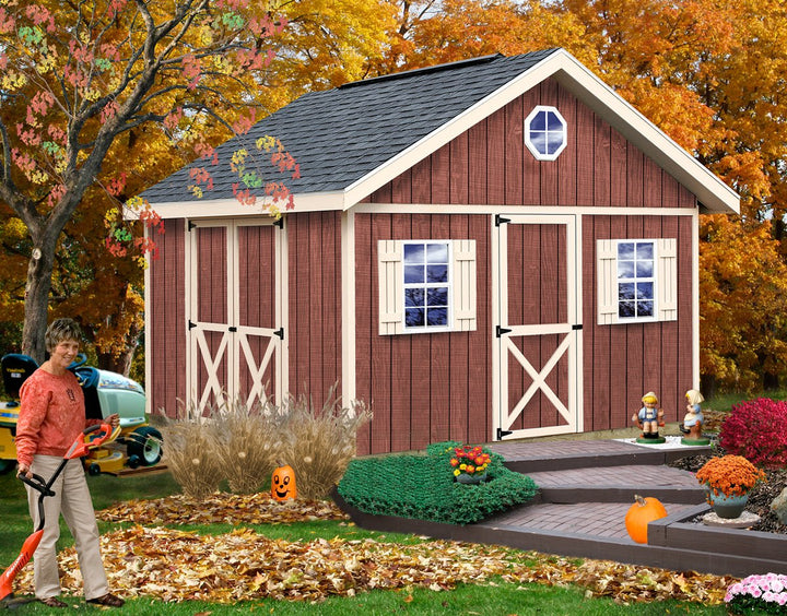 Best Barns Fairview 12 x 12 Wood Storage Shed Kit - Sojag Gazebos