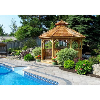 Outdoor Living Today Bayside 12′ Octagon Cedar Wood Gazebo - Sojag Gazebos