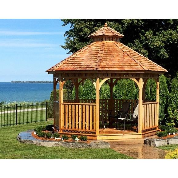 outdoor living today bayside 12 u2032 octagon cedar wood gazebo rh gorgeousgazebos com Octagon Gazebo Canopy Octagon Gazebos at Sam's Club