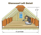Best Barns Glenwood 12x16 Wood Storage Garage Kit - Sojag Gazebos