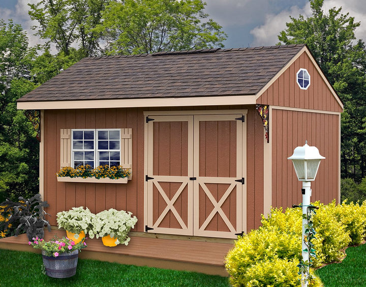 Best Barns Northwood 10 x 14 Wood Storage Shed Kit - Sojag Gazebos