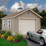 One Car Wood Garage Kit 12 x 24 Greenbriar - Sojag Gazebos