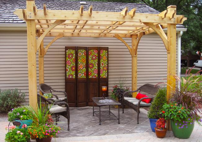 Breeze 10' x 10' Cedar Wood Pergola - Outdoor Living Today - Sojag Gazebos