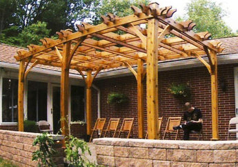 Outdoor Living Today Breeze 10' x 16' Cedar Wood Pergola - Sojag Gazebos