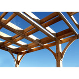Breeze 12' x 16' Attached Cedar Wood Pergola - Outdoor Living Today - Sojag Gazebos
