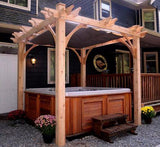 Outdoor Living Today Breeze 8' x 8' Spa Shelter Wood Pergola - Sojag Gazebos
