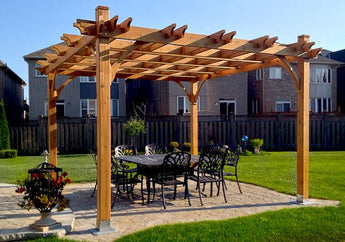 Breeze 12' x 12' Cedar Wood Pergola - Outdoor Living Today - Sojag Gazebos