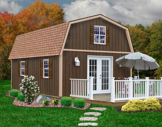 Wood Storage Sheds Richmond 16 x 32 Barn Style Shed Kit - Sojag Gazebos