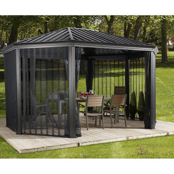 Sojag 12' x 15' Komodo Screened Aluminum Gazebo - Sojag Gazebos