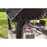 Sojag Genova 10' x 14' Gazebo Hard Top with Mosquito Netting - Sojag Gazebos