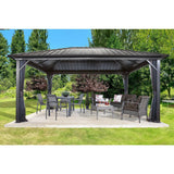 Sojag Genova 12' x 12' Gazebo Hard Top with Mosquito Netting - Sojag Gazebos
