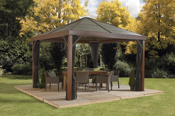 Sojag South Beach 12' Wood Finish Gazebo - Sojag Gazebos