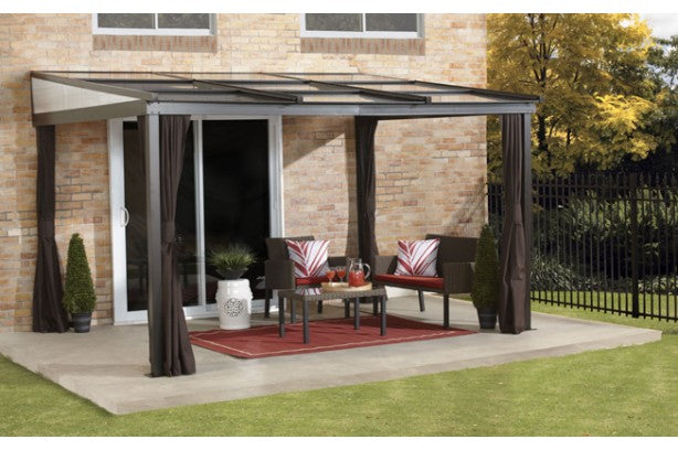 Sojag Budapest 10' x 12' Retractable Attached Gazebo - Sojag Gazebos