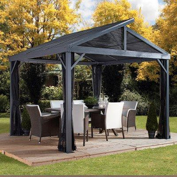 Sojag Sanibel II 10' x 10' Gazebo Hard Top with Mosquito Netting - Sojag Gazebos