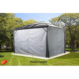 Sojag Genova 10' x 12' Gazebo Hard Top with Mosquito Netting - Sojag Gazebos