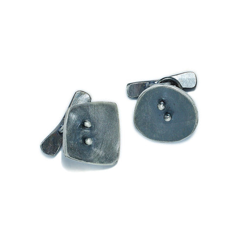 Sterling Silver Jewelry and Accessories | Dot Dot Cuff Links | Michele Lee | Rarefy Studio