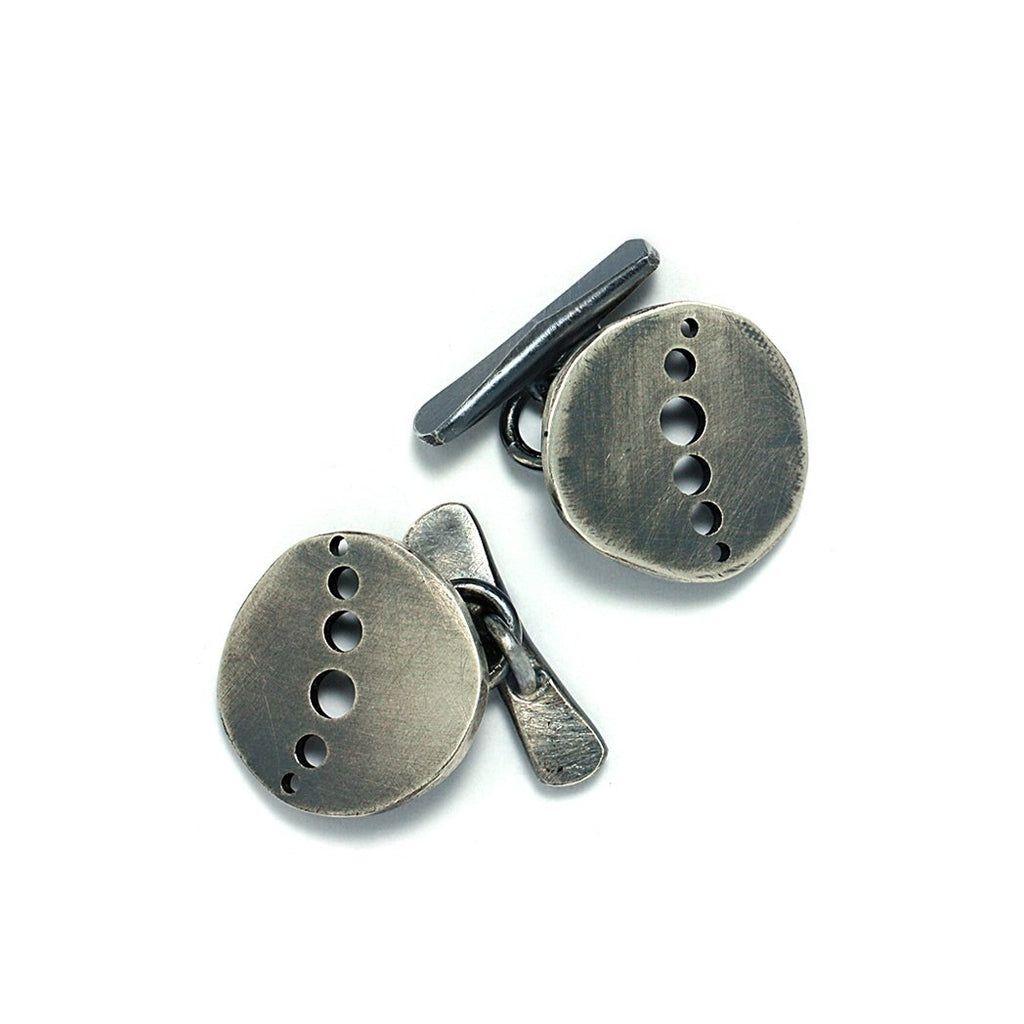 Sterling Silver Jewelry and Accessories | Galaxy Cuff Links | Michele Lee | Rarefy Studio