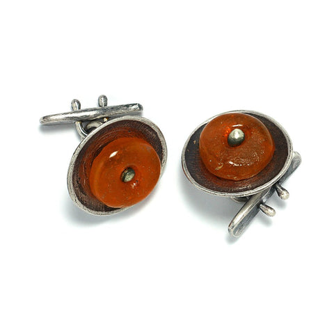 Sterling Silver Jewelry and Accessories | Roundabout Cuff Links | Michele Lee | Rarefy Studio