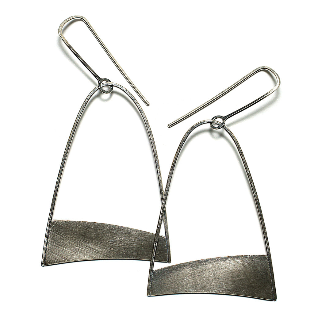 Sterling Silver Jewelry | Dune Earrings Large | Michele Lee | Rarefy Studio.