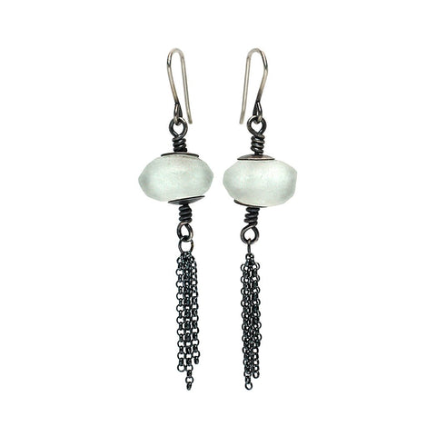 Sterling Silver Jewelry | Tassel Lantern Earrings | Michele Lee | Rarefy Studio