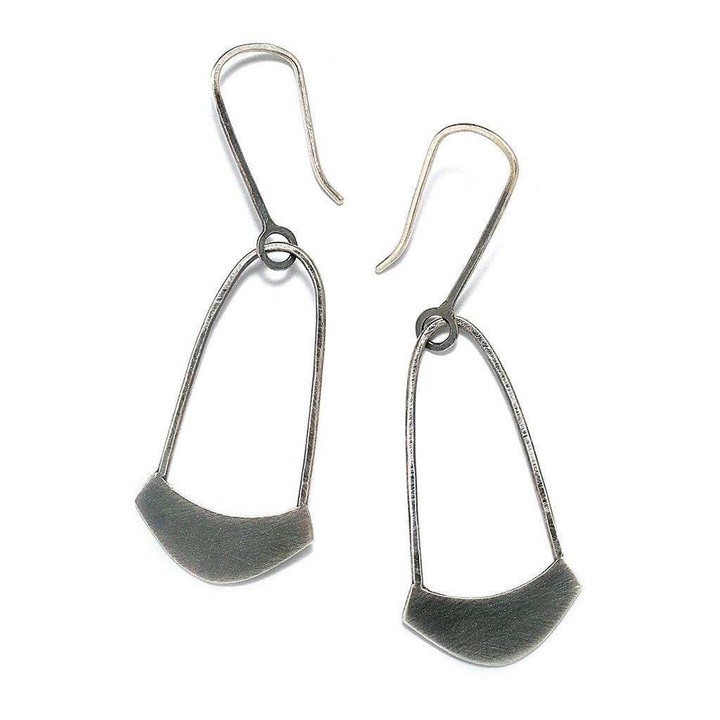 Sterling Silver Jewelry | Yoke Earrings | Michele Lee | Rarefy Studio.