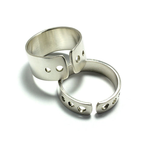 Sterling Silver Jewelry | Rings and Wedding Bands | Shot Bands | Michele Lee | Rarefy Studio