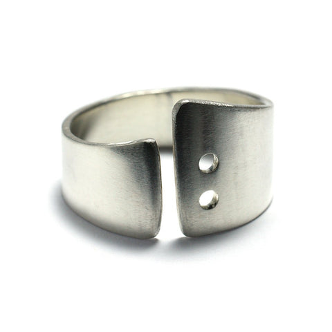 Sterling Silver Jewelry | Rings and Wedding Bands | 2 Shot Swoop Bands | Michele Lee | Rarefy Studio