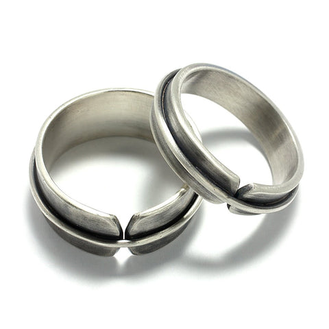 Sterling Silver Jewelry | Rings and Wedding Bands | Broken Wrapped Bands | Michele Lee | Rarefy Studio