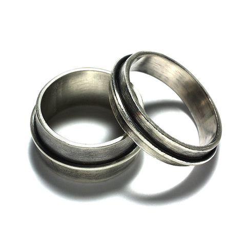 Sterling Silver Jewelry | Rings and Wedding Bands | Wrapped Bands | Michele Lee | Rarefy Studio