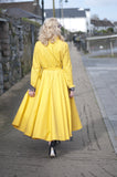 1950s vintage inspired glamorous raincoat - red, blue, yellow, burnt orange....