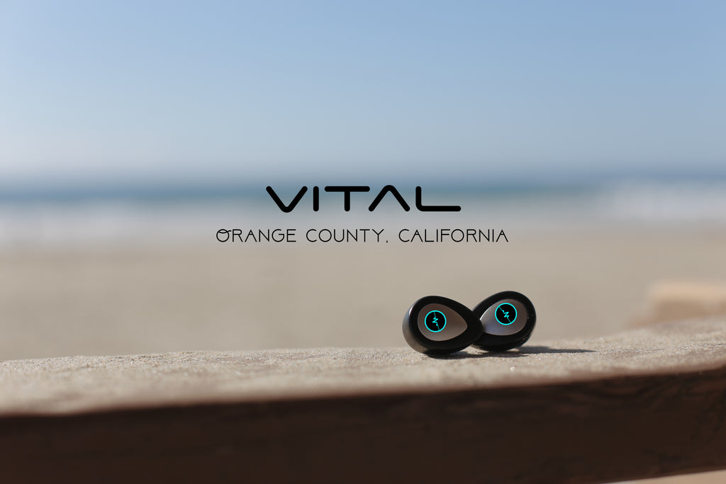Vital true wireless bluetooth headphones that complements a full active lifestyle. Take these wireless earbuds to the gym, beach, or take it for a hike and feel the freedom of not having annoying wires dangle.