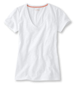 The v-neck classic is from LL Bean. Simple but chic.