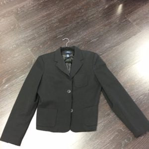 We went with a black fitted blazer from Chaps, Size 10, $27.99