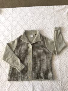 This L CAbi gold-buttoned cardigan sweater is NWOT!