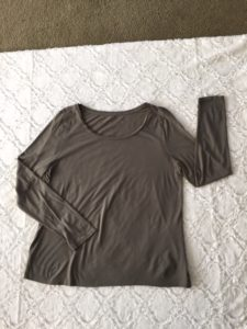 This gray LOFT long sleeve layering T is size XL and a steal at $9.99