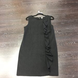 Our LBD has some fun ruffles! JCrew, Size 10, $92.99