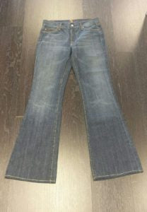 Our perfect jeans happen to be 7 for All Mankind, size 27, $55.99 (retail $198)